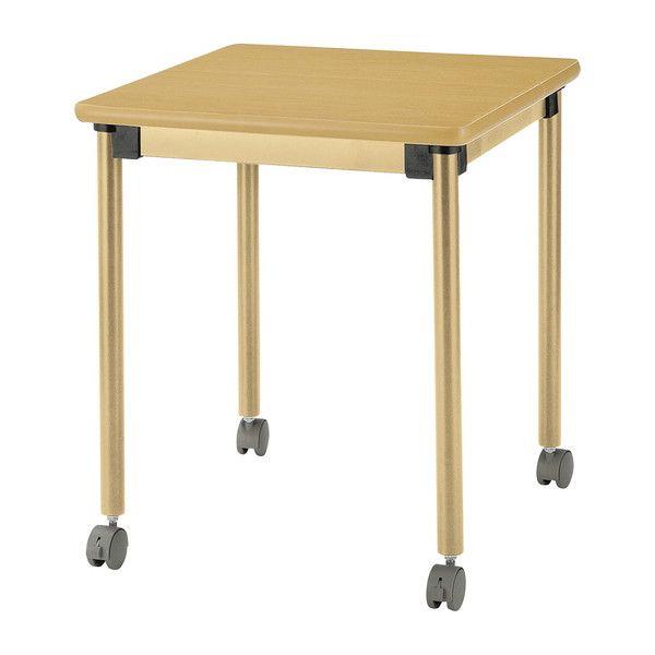テーブル オールラウンドテーブル キャスター脚付 福祉介護用テーブル 6060C キャスター付き(代引不可)【送料無料】