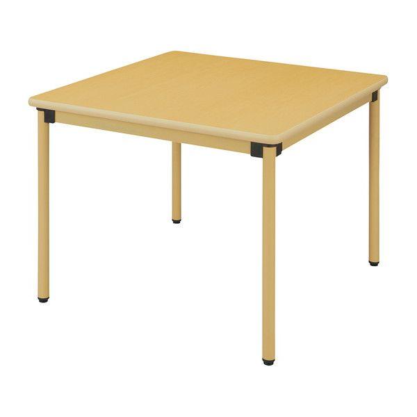 テーブル 90×90cm オールラウンドテーブル 福祉介護用 机 テーブル(代引不可)【送料無料】
