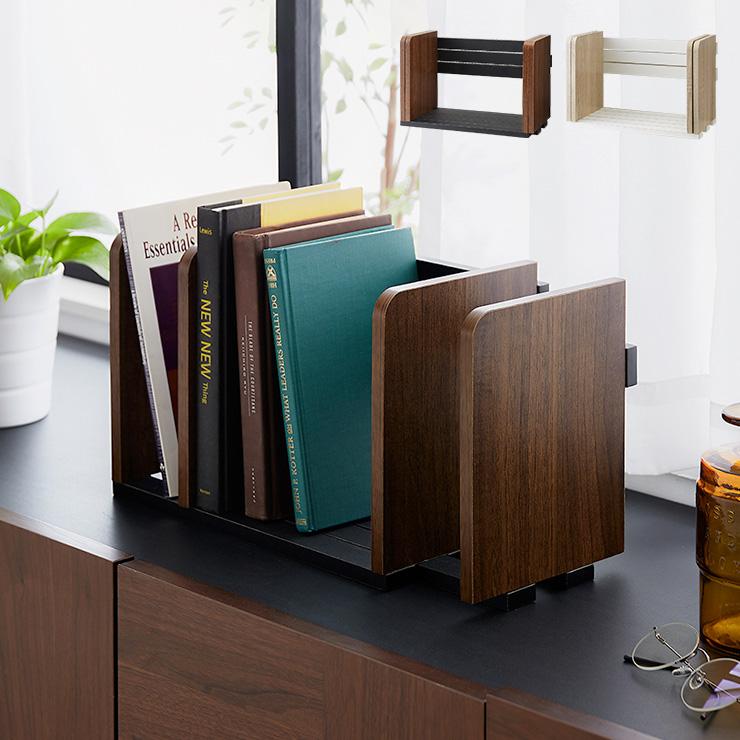送料無料 最安値 おトク ヴィンテージ調 ブックスタンド 本立て スライド 木製 卓上 本棚 シェルフ マガジンラック スライドブックスタンド 整理 ブックシェルフ モダン 整頓 ディスプレイ シンプル 代引不可 ナチュラル インテリア 本 かわいい 伸縮