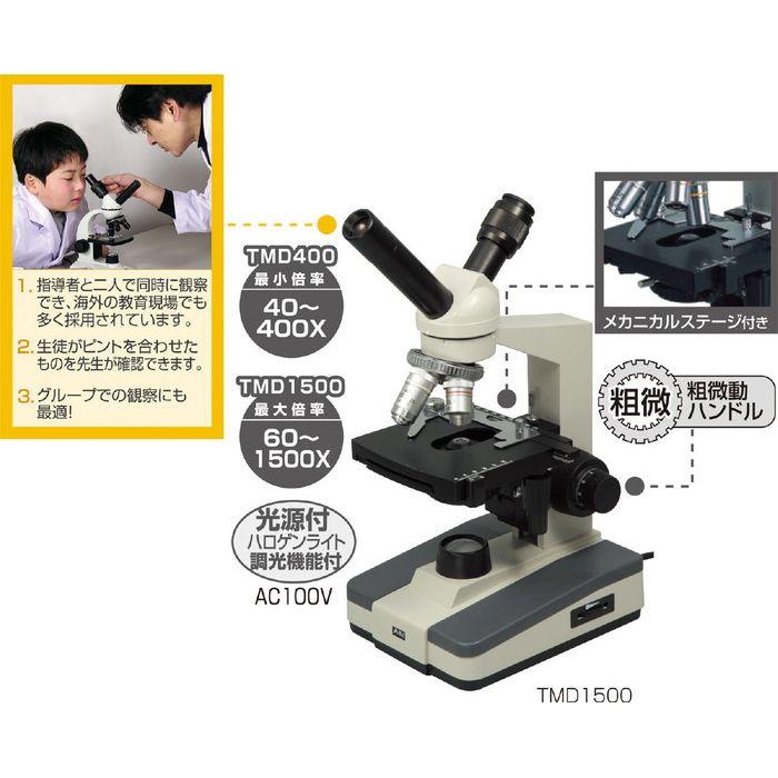 ツインビュー生物顕微鏡TMD400 理科教材 備品 顕微鏡【送料無料】