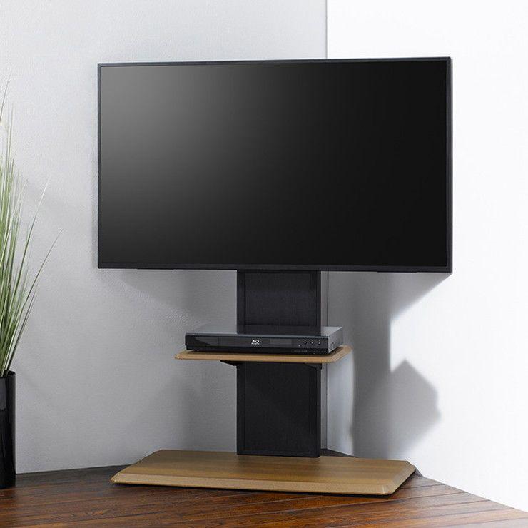 壁よせ テレビ台 幅85cm 支柱板 リバーシブル テレビボード AVボード テレビラック ヴィンテージ おしゃれ(代引不可)【送料無料】