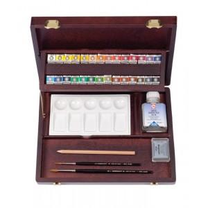 REMBRANDT レンブラント固形水彩絵具 ラグジュアリーボックス28色セット T0584-0003 410880【送料無料】