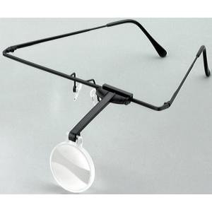 エッシェンバッハ ラボ・シリーズ ラボ・フレーム フレーム+レンズ1枚セット 片眼レンズ 4倍・1644-54【送料無料】