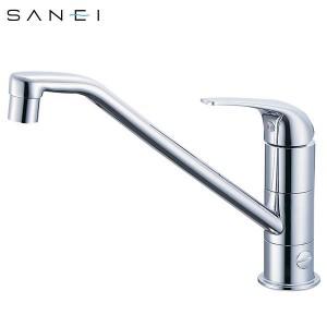 三栄水栓 SANEI シングルワンホール分岐混合栓 K87010BJV-13C【送料無料】