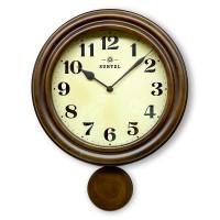 SALE ※アウトレット品 送料無料 昭和初期の時計をイメージしたレトロ電波振り子時計 日本製 DQL669 レトロ電波振り子柱時計 アンティークブラウン