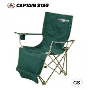 CAPTAIN STAG CSオートリクライニングチェア(グリーン) M-3884(代引き不可)【送料無料】