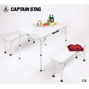 CAPTAIN STAG ラフォーレ ベンチインテーブルセット UC-0005(代引き不可)【送料無料】