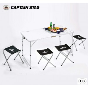 CAPTAIN STAG ラフォーレ テーブル・チェアセット(4人用) UC-0004(代引き不可)【送料無料】