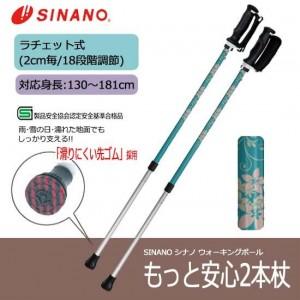 SINANO シナノ ウォーキングポール もっと安心2本杖 エルシオン【送料無料】