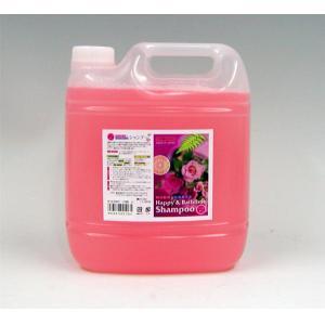ハッピー&バスタイム ペット用シャンプー 4L バラの香り (代引き不可)【送料無料】