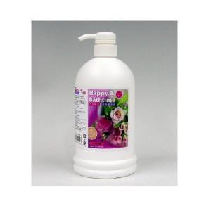 ハッピー&バスタイム 1L バラの香り ペット用入浴液 (代引き不可)【送料無料】
