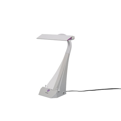 ツインバード タブレッドスタンド&USB付LEDデスクスタンド LE-H843S【送料無料】