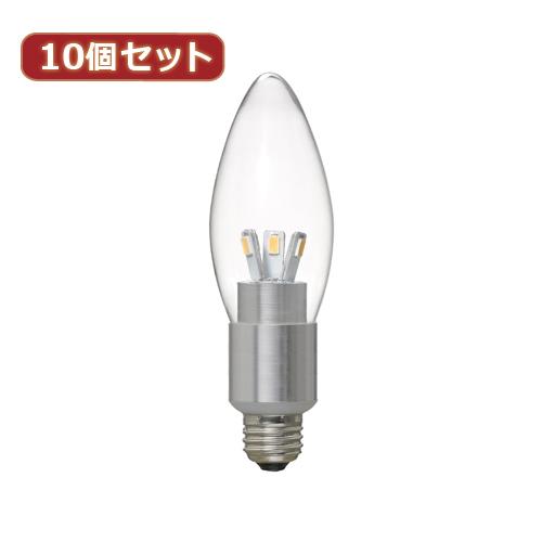 YAZAWA 【10個セット】 シャンデリア形LED電球4W電球色E17 LDC4LG32E17X10【送料無料】