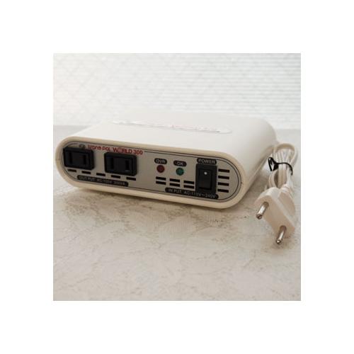 スワロー電機 受注生産のため納期約2週間電圧安定機能搭載変圧器110-240V対応 300W WORLD-300