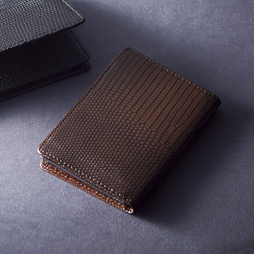 リザード名刺入れ ブラウン 雑貨 ホビー インテリア 雑貨 雑貨品【送料無料】