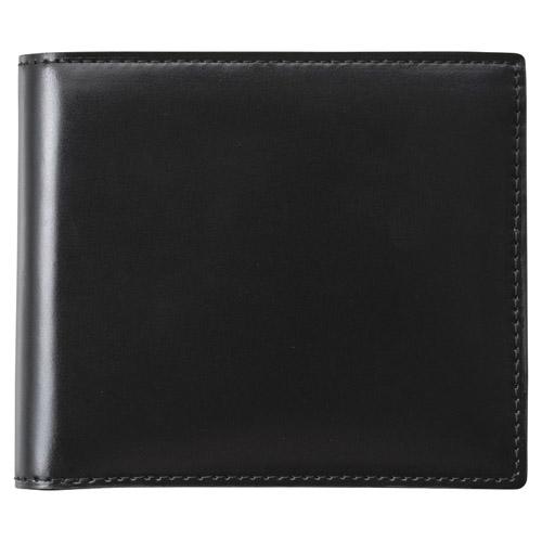 コードバン二つ折財布(ブラック) 雑貨 ホビー インテリア 雑貨 キャリングバック【送料無料】