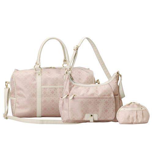ボストン3点セット ピンク 雑貨 ホビー インテリア 雑貨 キャリングバック【送料無料】