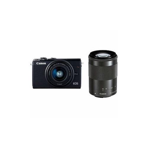 Canon EOSM100BK-WZK ミラーレス一眼カメラ 「EOS M100」 ダブルズームキット ブラック EOSM100WZOOMKIT(代引不可)【送料無料】