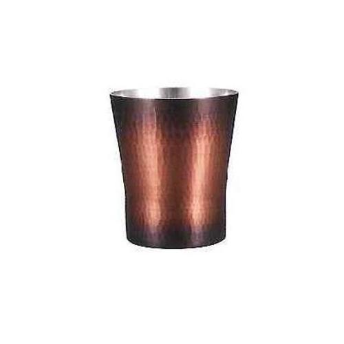 焼酎カップ赤茶被せ BR-005 雑貨 ホビー インテリア(代引不可)【送料無料】