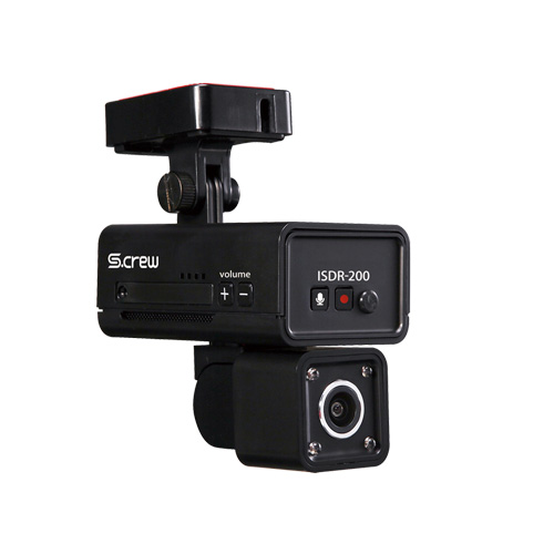 INBYTE 車内撮影2カメラ式ドライブレコーダー S-CREW ISDR-200 ISDR-200 カメラ(代引不可)【送料無料】【S1】