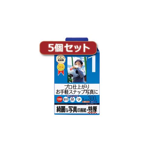 【5個セット】インクジェット写真印画紙 特厚 JP-EP6L-300X5 JP-EP6L-300X5 パソコン(代引不可)【送料無料】