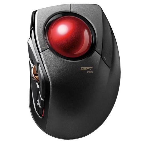 エレコム トラックボールマウス 人差指 8ボタン チルト機能 有線 無線 Bluetooth 1000万回耐久 ブラック M-DPT1MRBK(代引不可)【送料無料】【S1】