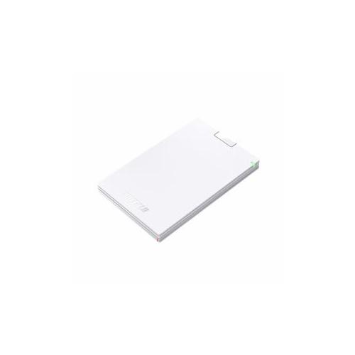 BUFFALO バッファロー ミニステーション USB3.1(Gen1) USB3.0 ポータブルHDD 500GB ホワイト HD-PCG500U3-WA(代引不可)【送料無料】