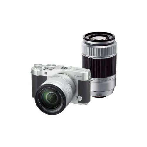 富士フイルム デジタル一眼カメラ「X-A3」ダブルズームレンズキット(シルバー) F-X-A3WZLK-S(代引不可)【送料無料】