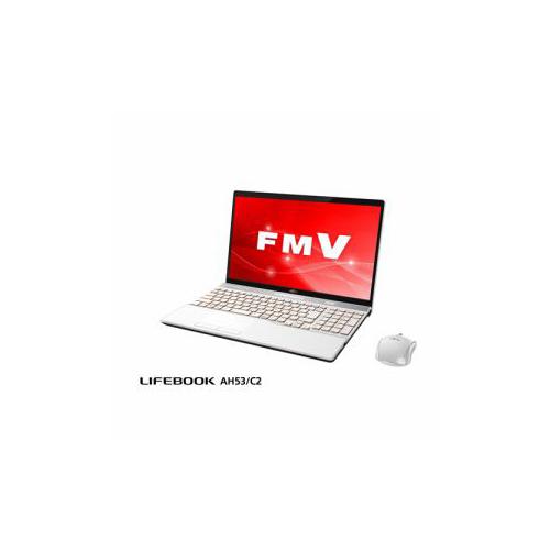 富士通 ノートパソコン FmV LIFEBOOK AH53/C2 プレミアムホワイト FmVA53C2W(代引不可)【送料無料】