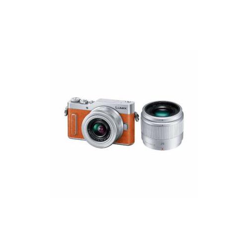 Panasonic デジタル一眼カメラ 「LUmIX DC-GF10」 ダブルレンズキット オレンジ DC-GF10W-D(代引不可)【送料無料】