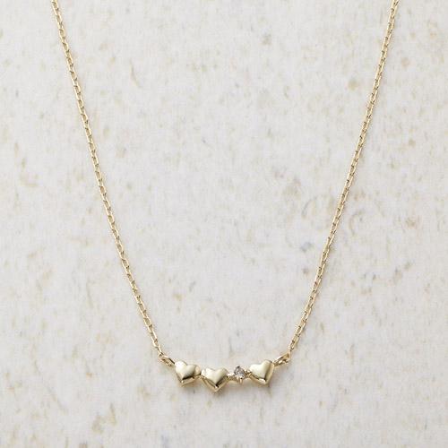 ルーシールーシー ダイヤモンド トリプルハートネックレス M81016214(代引不可)【送料無料】