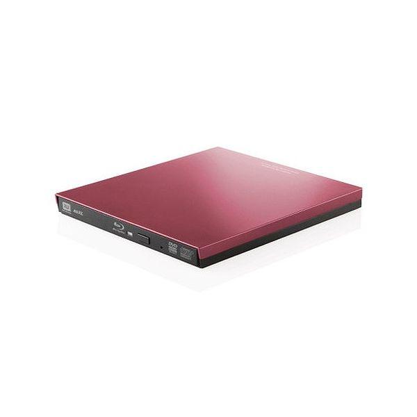 ロジテック Blu-rayディスクドライブ/USB3.0/スリム/再生&編集ソフト付/typeCコネクタ付/レッド LBD-PVA6UCVRD(代引不可)