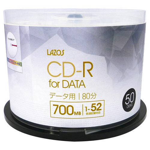 10個セット Lazos データ用 CD-R 50枚組 L-CD50PX10 パソコン ドライブ CD-Rメディア L-CD50PX10(代引不可)【送料無料】