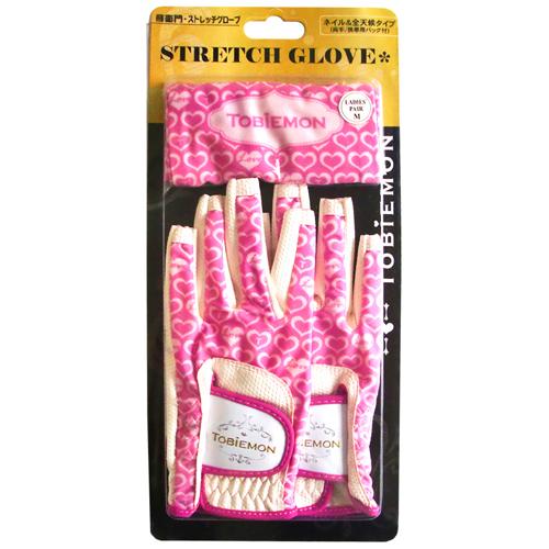 5個セット TOBIEMON R&A公認レディース ストレッチグローブ ホワイトピンク Lサイズ T-LG-LX5 インテリア 雑貨 雑貨品 TOBIEMON(代引不可)【送料無料】
