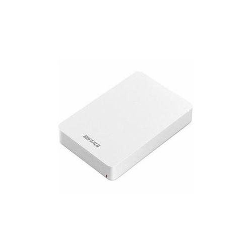 BUFFALO バッファロー ポータブル 外付け HDD USB3.1(Gen1) 4TB ホワイト HD-PGF4.0U3-GWHA(代引不可)