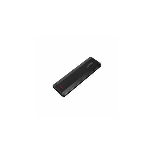 BUFFALO バッファロー ポータブル 外付け SSD USB3.1(Gen2)対応 500GB ブラック SSD-PH500U3-BA(代引不可)