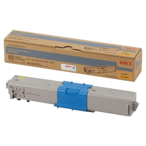 OKI 沖データ OKIデータ トナーカートリッジ イエロー (大) TC-C4AY2 コピー機 印刷 替え カートリッジ ストック トナー(代引不可)