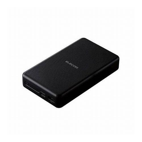 エレコム モバイルバッテリー リチウムイオン電池 PD認証 20000mAh USB-A Type-C入 PSE適合 出力計50W ブラック DE-C19L-20000BK(代引不可)