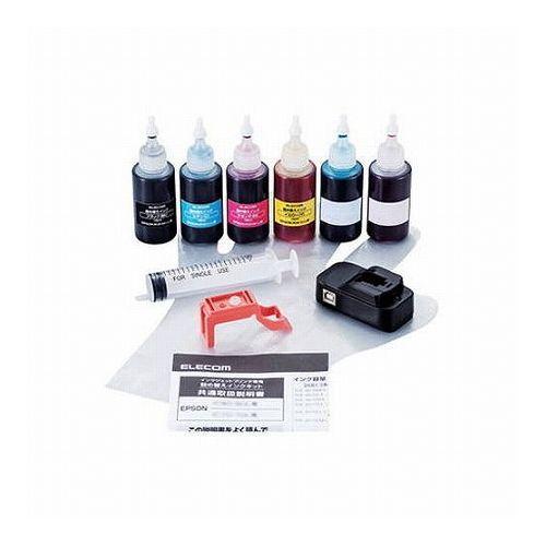 エレコム 詰替えインク エプソン KUI-6CL対応 6色セット(5回分) THE-KUIKIT(代引不可)