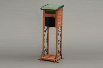 アイリスオーヤマ ガーデンメールボックス 木製組立品 グリーン/ブラウン GMB-121F(代引き不可)【送料無料】【S1】