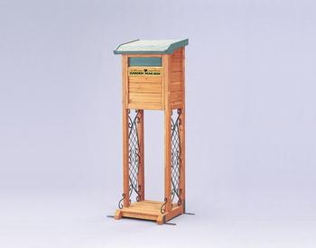 アイリスオーヤマ ガーデンメールボックス 木製組立品 ブラウン/グリーン MGB-122(代引き不可)【送料無料】【S1】
