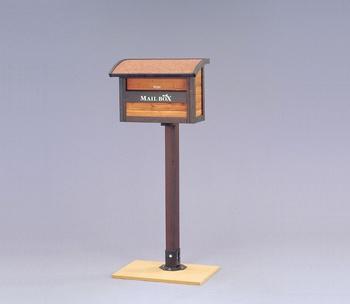 アイリスオーヤマ ガーデンメールボックス 木製組立品 ブラウン/ダークブラウン MG-115(代引き不可)【送料無料】【S1】