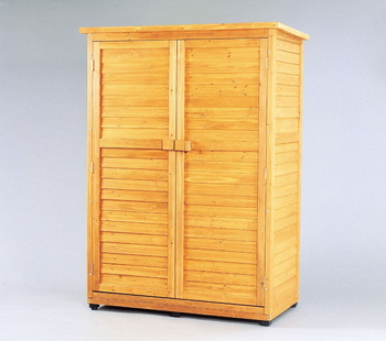 アイリスオーヤマ 木製物置トレー付 木製収納庫 ブラウン WSR-1813T(代引き不可)