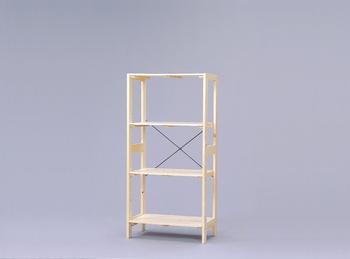 アイリスオーヤマ ウッディラック 木製ラック クリア WOR-5312(代引き不可)【送料無料】