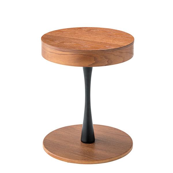 サイドテーブル 収納 天板 マグネット天板下収納 ナイトテーブル おしゃれ 便利 丸型 テーブル 収納 カフェ インダストリアル(代引不可)【送料無料】
