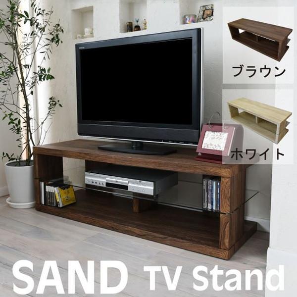 sand SAND テレビ台 ローボード AVボード リビング テレビラック AVラック TV台 台 収納 モダン 北欧 ガラス 強化【送料無料】