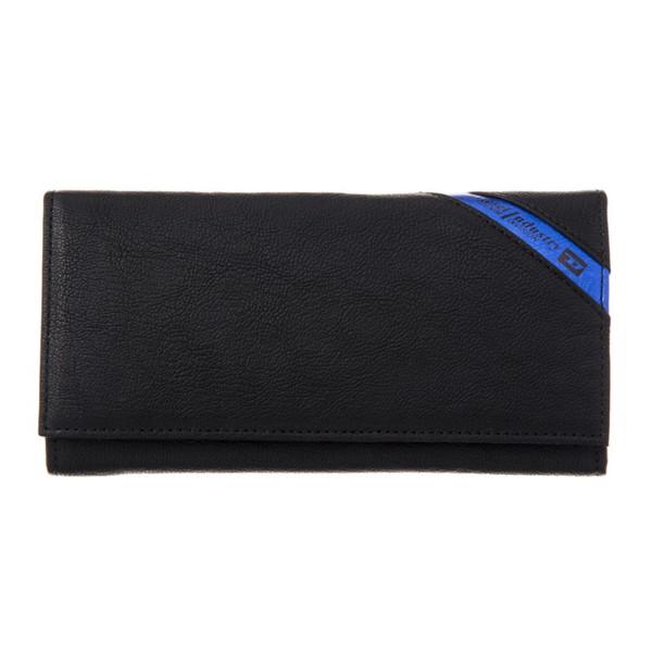 DIESEL ディーゼル X03608 P1221 H6169 Black/Cobalto 長財布【送料無料】