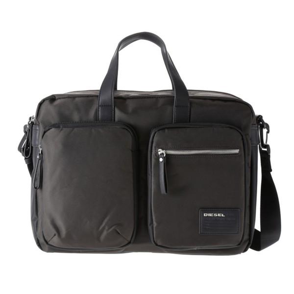DIESEL ディーゼル X03000 P0409 H2953 Coffee Bean/Black ビジネスバッグ【送料無料】