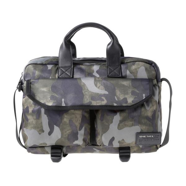 ディーゼル DIESEL【X04012PR027H5254】Military Camou ビジネスバッグ【送料無料】