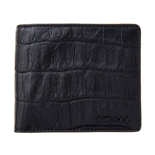 ディーゼル DIESEL【X03902P0178T8013】Black 二つ折り財布【送料無料】